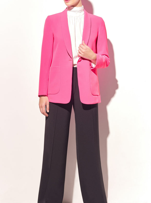 Stretch Cady Shawl Collar Jacket