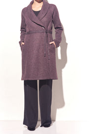 Boiled Wool Bathrobe Coat