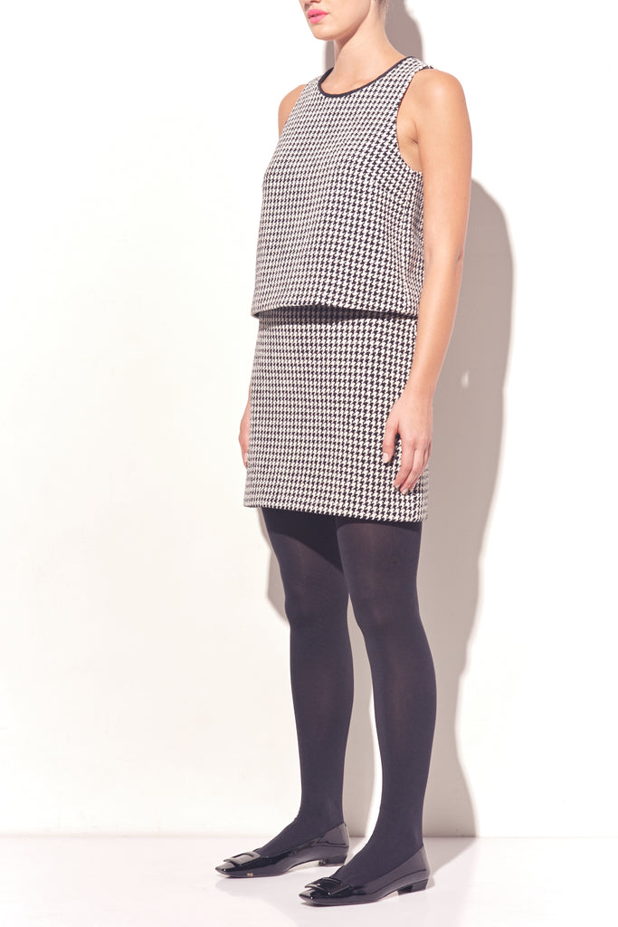 Cotton Houndstooth Mini