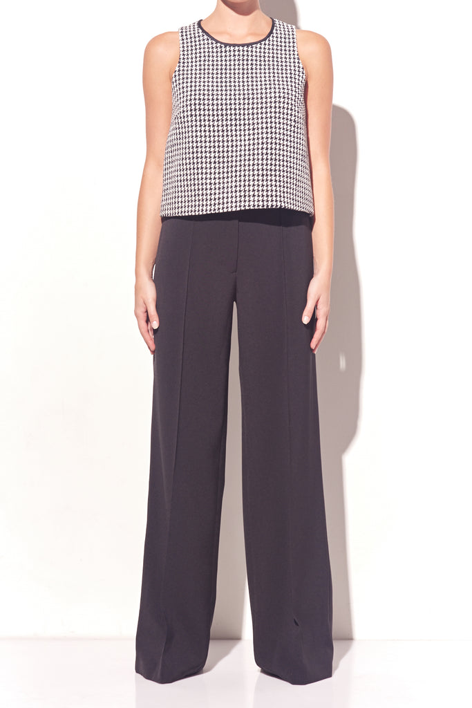 Cotton Houndstooth Top