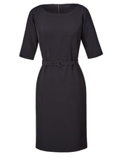Stretch Cady Boatneck Dress
