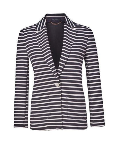 Stretch Cotton Striped Blazer