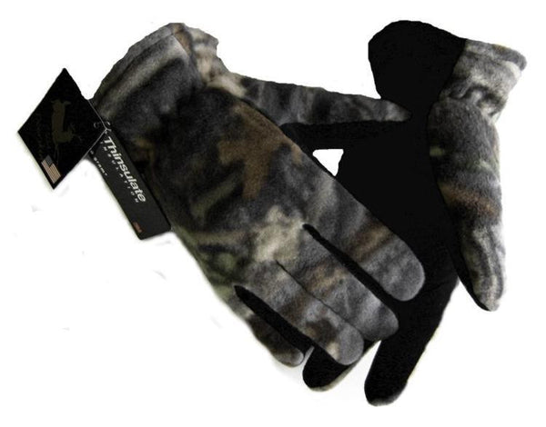 Men's Deerskin Suede Palm Glove - Camo (Lined) - Deer Skin Gloves