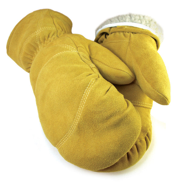 Men's Deerskin Buttersoft Mittens - Tan (Lined) - Deer Skin Gloves