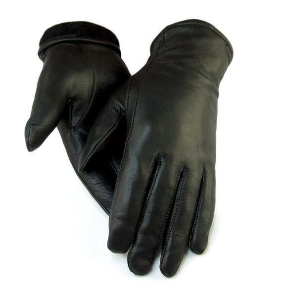 Women's Deerskin Dress Gloves - Black (Lined) - Deer Skin Gloves
