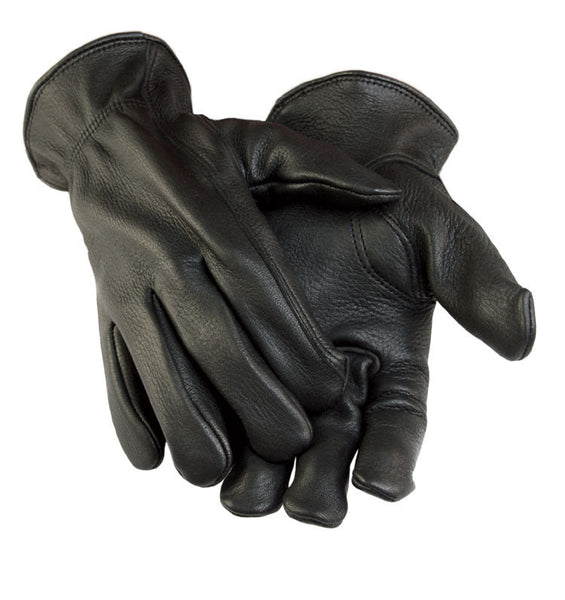 Women's Deerskin Gloves - Black (Unlined) - Deer Skin Gloves