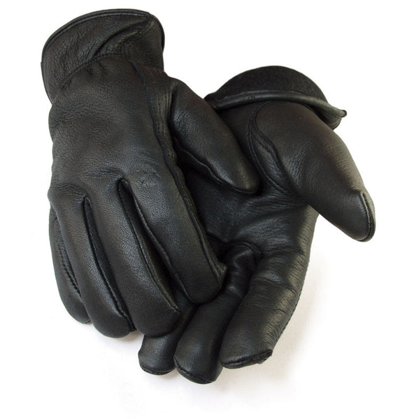 Men's Deerskin Gloves - Black (Lined) - Deer Skin Gloves
