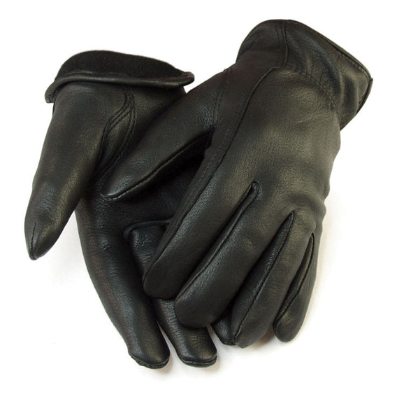 Women's Deerskin Gloves - Black (Lined) - Deer Skin Gloves