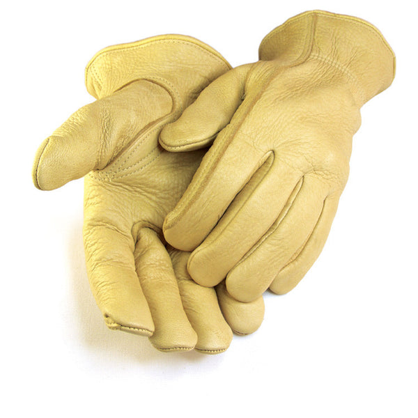 Men's Elkskin Gloves - Tan (Unlined) - Deer Skin Gloves