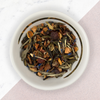 Blueberry White Tea, loose leaf tea in bowl
