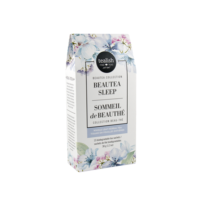 Box of 15 Beautea Sleep Herbal Tea Teabags, calming herbs for sleep