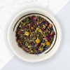 Chill Out Herbal tea, loose leaf tea in bowl