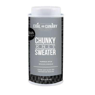 CHUNKY KNIT SWEATER - COAL AND CANARY<br><span>Black Tea </span>