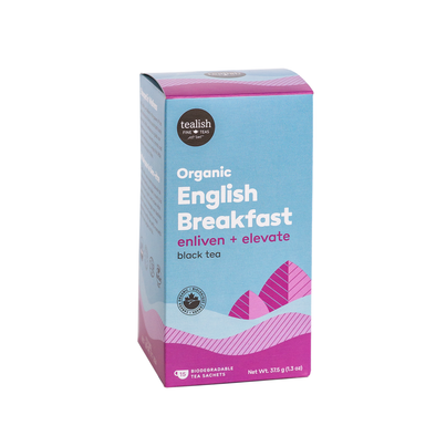 ORGANIC ENGLISH BREAKFAST TEA SACHETS<br><span>Black Tea</span>