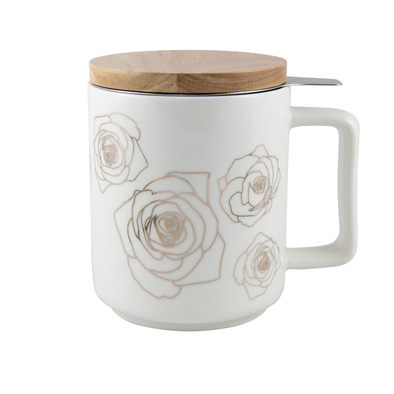 GOLDEN ROSES - BREW-IN MUG <br><span>Tealish Durables</span>