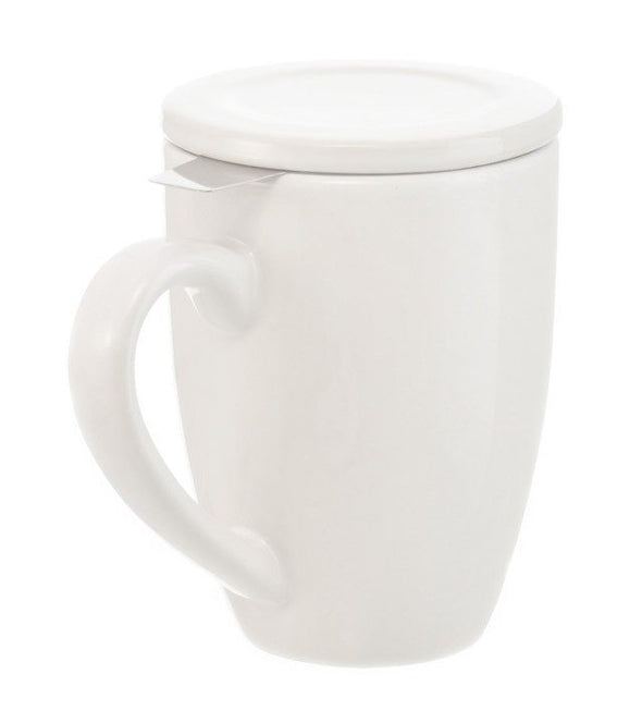 WHITE MUG WITH LID AND INFUSER<br><span>