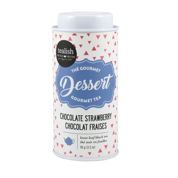 Chocolate Strawberry Black Tea Tin, Dessert Tea Collection