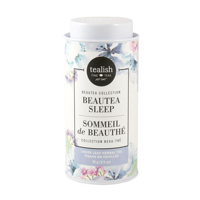 Beautea Sleep tin, herbal tea with calming herbs