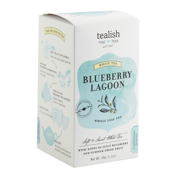 Blueberry Lagoon White Tea, Box of Tea Bags