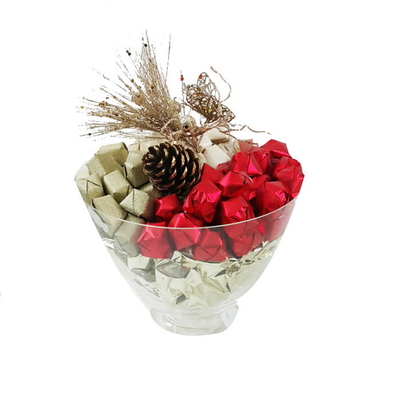 Red & Gold Festive Chocolate Bowl