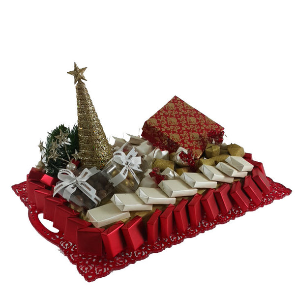 Red Christmas Tray