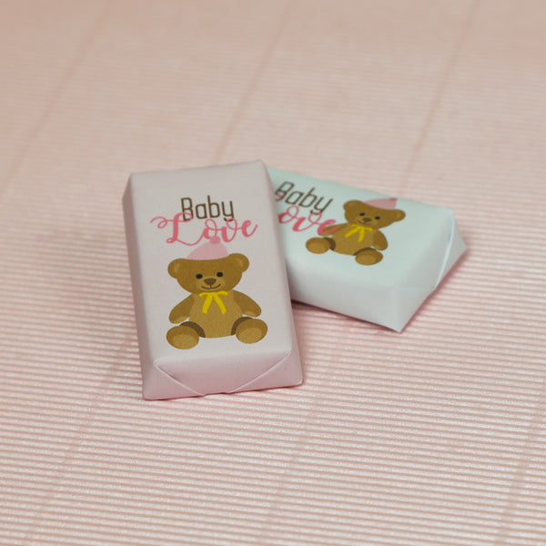 Teddy Rectangular Chocolate  (Pack of 40)- Girl