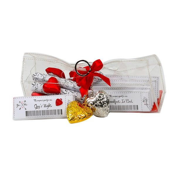 PVC Heart Chocolate Pouch-Small (Pack of 17)