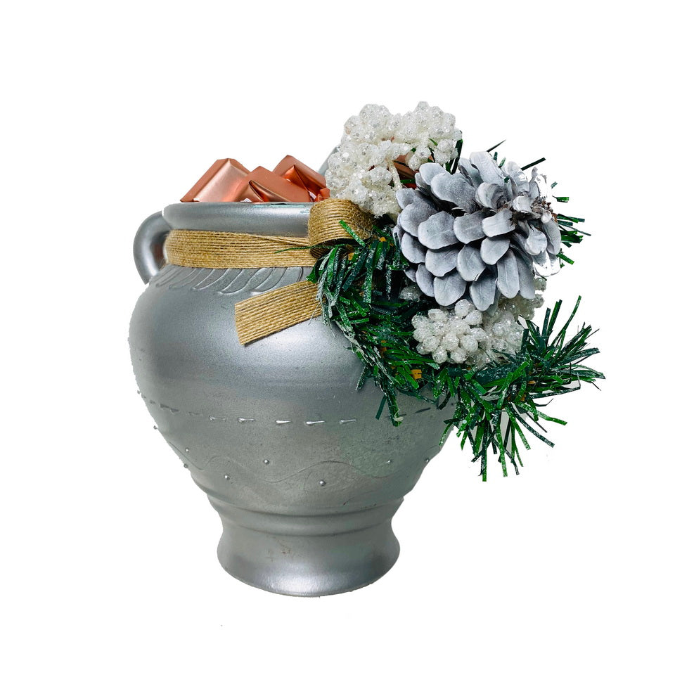 Chocolates Instead of Flowers Silver Pot