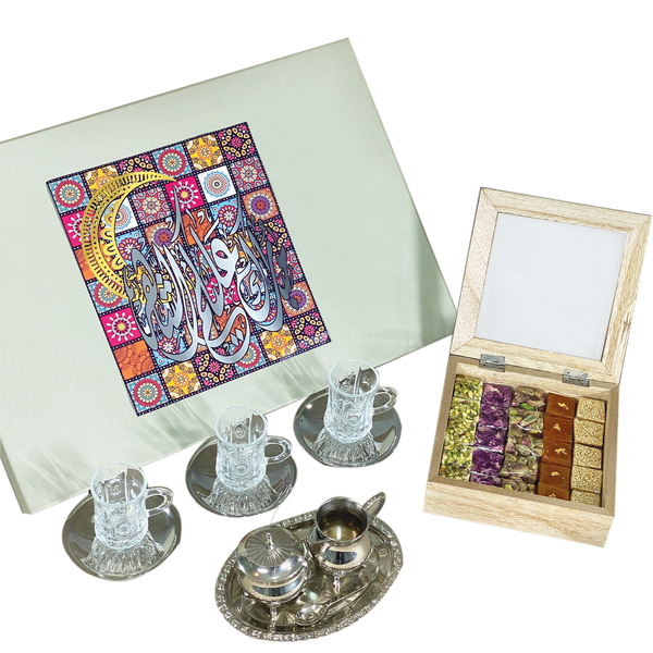 Post Iftar Perfection - Sweets and Tea Gift Set