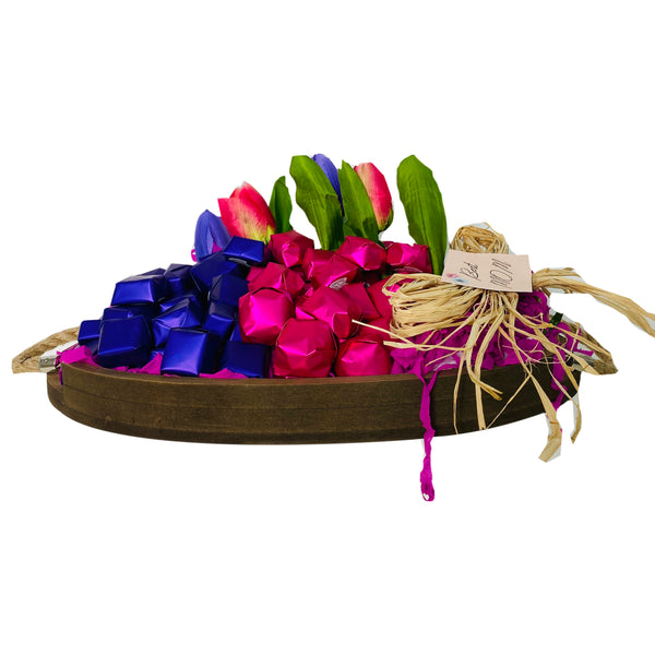 Chocolates and Tulips Tray