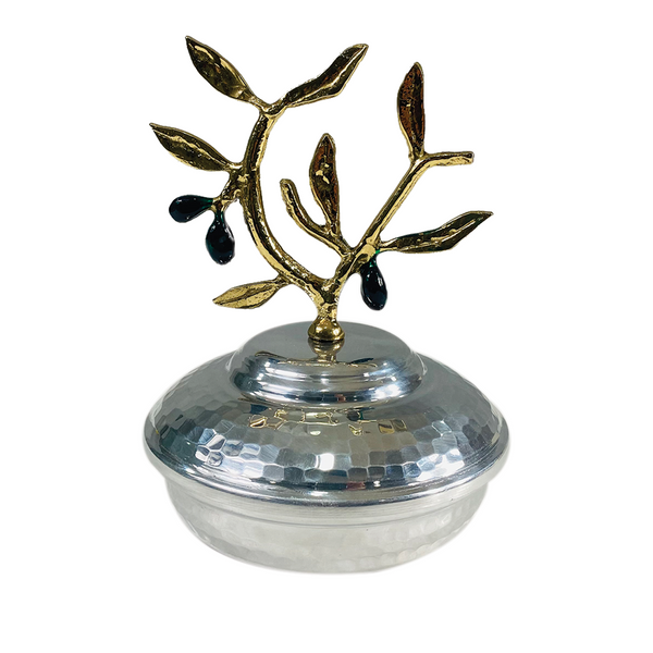 Olive Branch - Decorative Plate with Cover