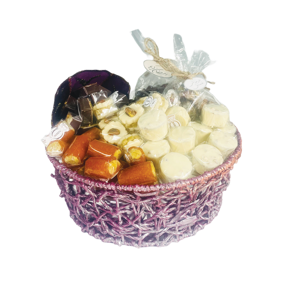 Suhour Surprise – Medium Purple Assorted Sweets Gift Basket