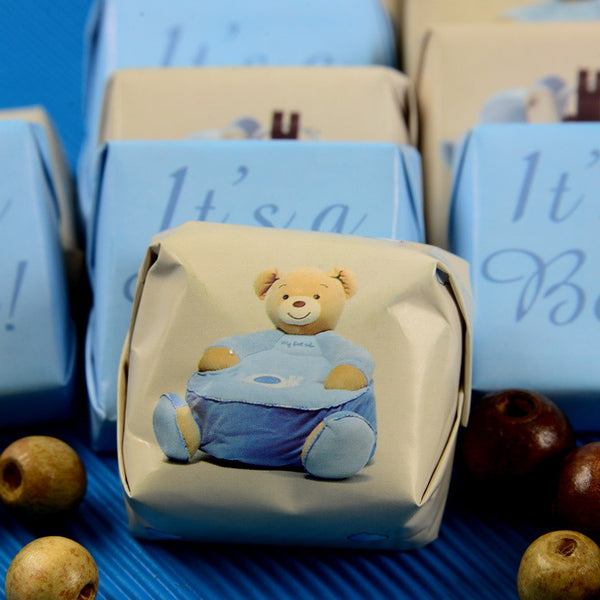 Baby Boy DW Teddy Chocolate - Pack of 24 pcs