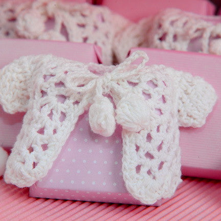 Knitted Baby Jacket Chocolate - Pack of 12 pcs