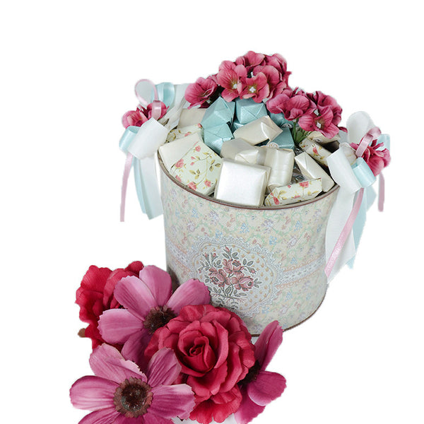 Flowery Tin Bucket