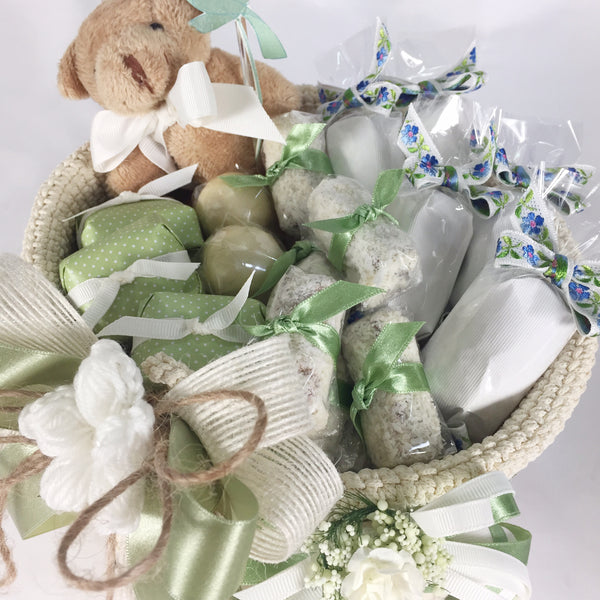 Welcome Baby Crochet Basket