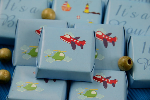 Baby Boy Airplane Chocolate - Pack of 32 pcs