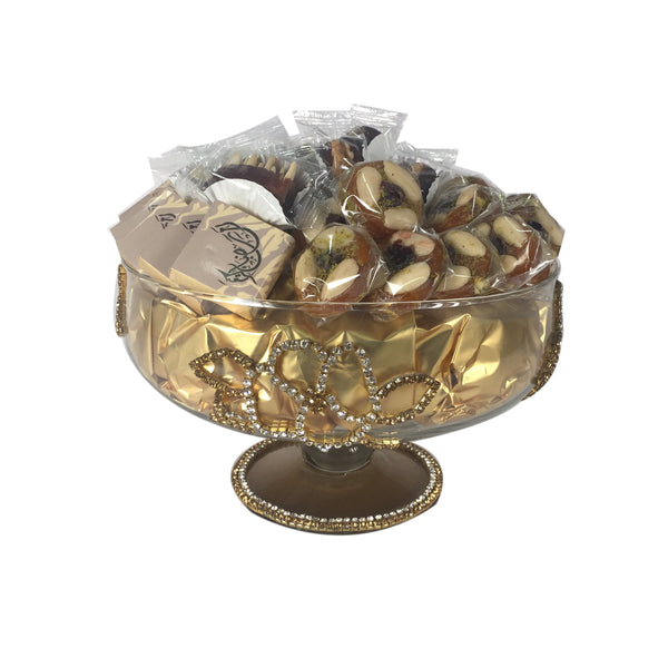 Ramadan Gold Glass Bowl