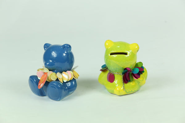 Colored Teddy Bank