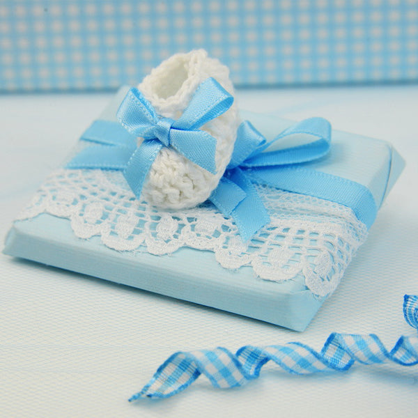 Crochet Baby Shoe Chocolate - Pack of 12 pcs