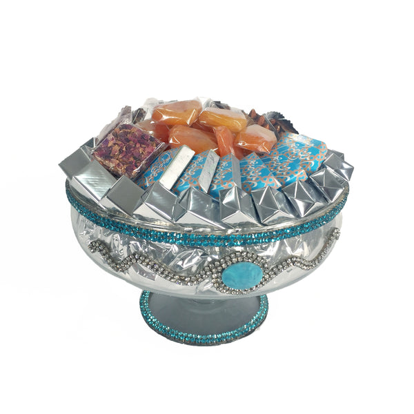 Ramadan Silver Glass Bowl