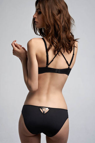 Triangle Black Balcony Bra
