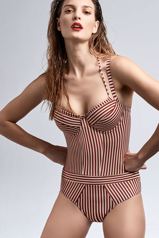 Holi Vintage Plunge Balcony Bathing Suit