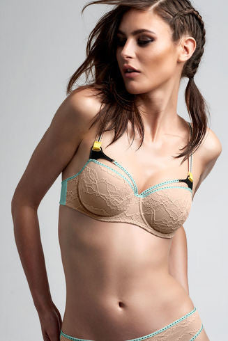 Kunoichi Maple Sugar Balcony Bra
