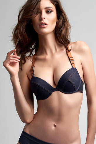 Calamity Jane Blue Jeans Push Up Bra