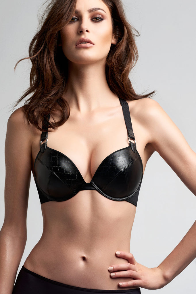 Femme Fatale Black Super Push Up Bra