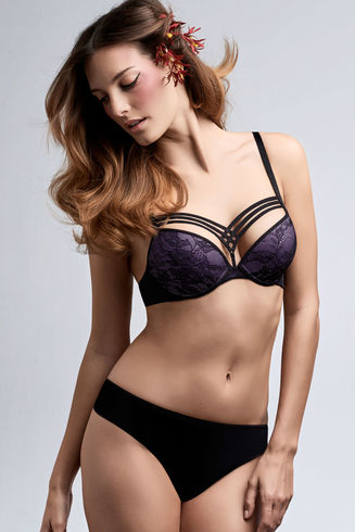 Dame de Paris Hidden Purple Push Up Bra