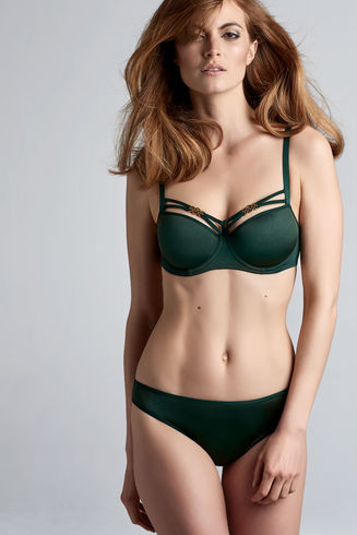 Forever Secret Forest Green Plunge Balcony Bra