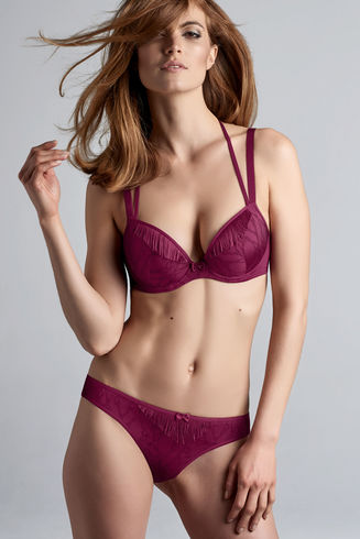 Latin Lady Grape Purple Push Up Bra