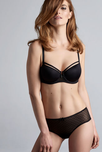 Peekaboo Black 8cm Brazilian Briefs